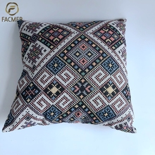 Moroccan kilim paisley style popular sofa cushion handcraft jacquard indian throw pillow covers