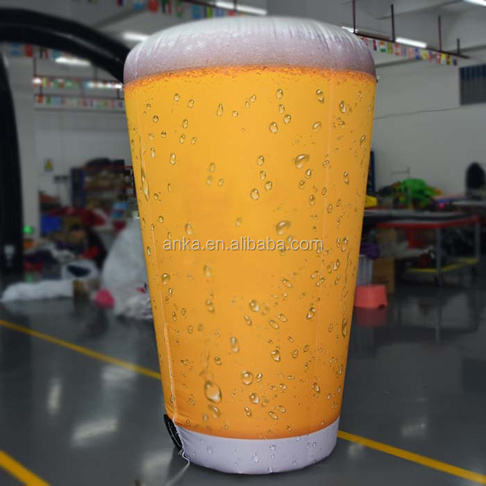 Custom logo  inflatable beer model with blower for outdoor promotion