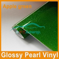 PVC self adhesive hot sale factory supply pearl sanding vinyl holographic car vinyl wrap/glossy vinyl glitter car wrap film