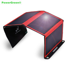 PowerGreen Portable Solar Panel 21W Solar Charger Kit for Mobile Phone Charge
