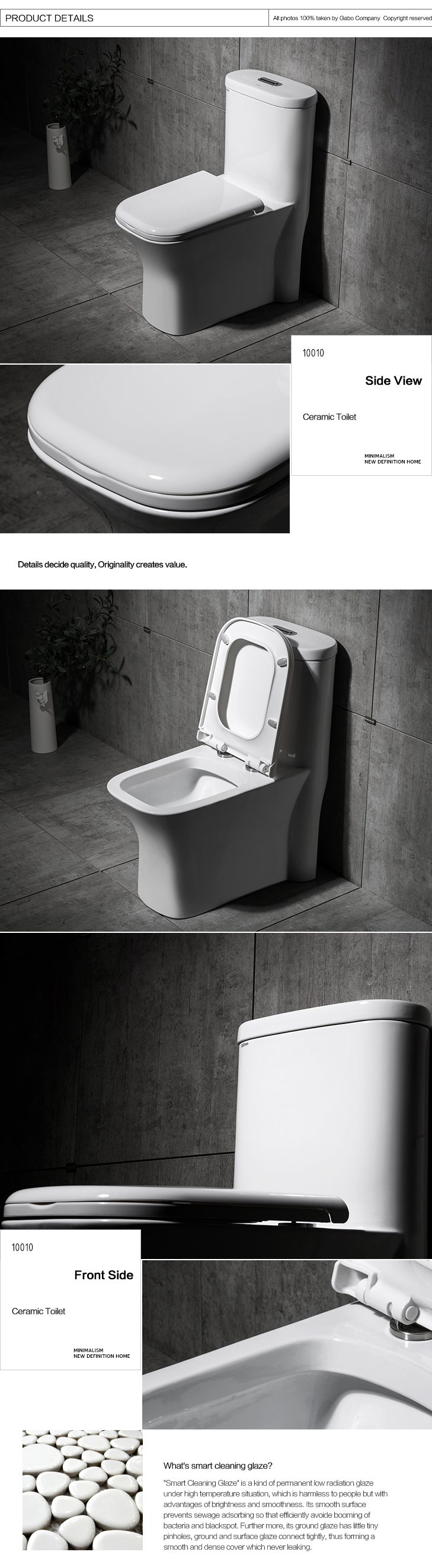 Square Floor Mounted Ceramic No Water Toilet
