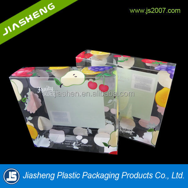 Plastic decorative large Christmas high quality custom gift packaging folding box with printing