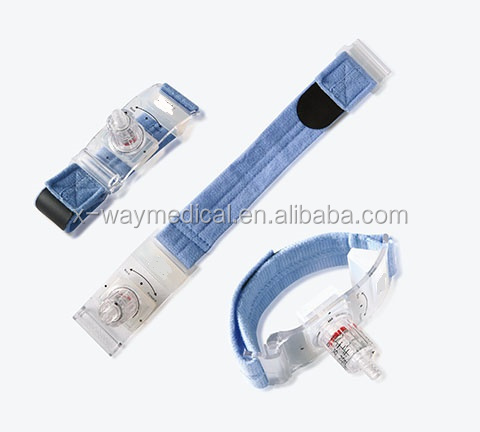Double air float gasbag arterial stress hemostasia compression cord with standard luer connector