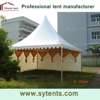 aluminium fream white pvc fabric cover europe style tent 4x4 canopy party tent outdoor