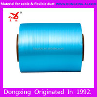 blue double sided bonded AL PET EMAA aluminum mylar film roll for cables shield