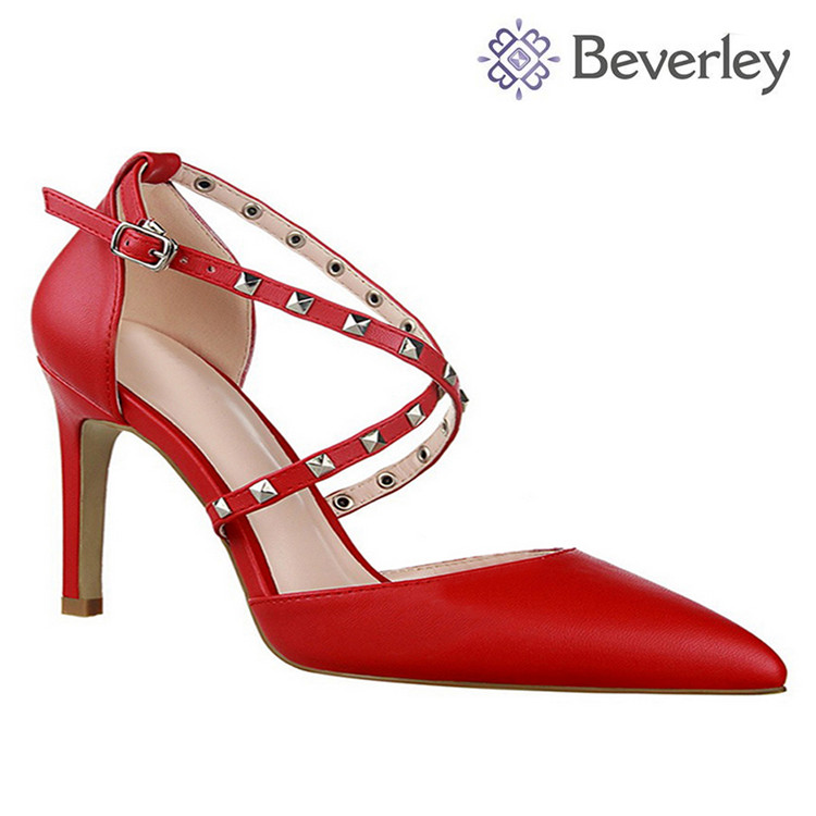 Wholesale RED high-heel shoe lady working dress imitation designer shoes in china free shipping