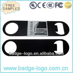 bar blade blank bottle opener with custom printing