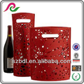 High Quality Fancy Christmas wine bottle gift bags wedding gift bags