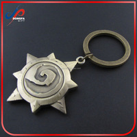J& R Game of Thrones Keychain House Martell Badge Metal pendant Keychain Golden Silver Key chain key ring Vintage Men Jewelry
