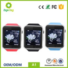 smart watch android dual sim a1 gt08,whatsapp watch phone,for samsung watch mobile phone