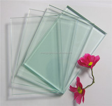 8mm transparent tempered clear float glass with competitive price
