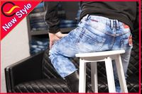 rhinestone mens jeans push up panties jeans manufactured