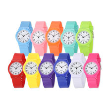 wrist watch with silicone band and quartz movement for promotional gift