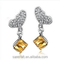Latest fashion jewelry earring/fashion earring designs new model earrings with different colors