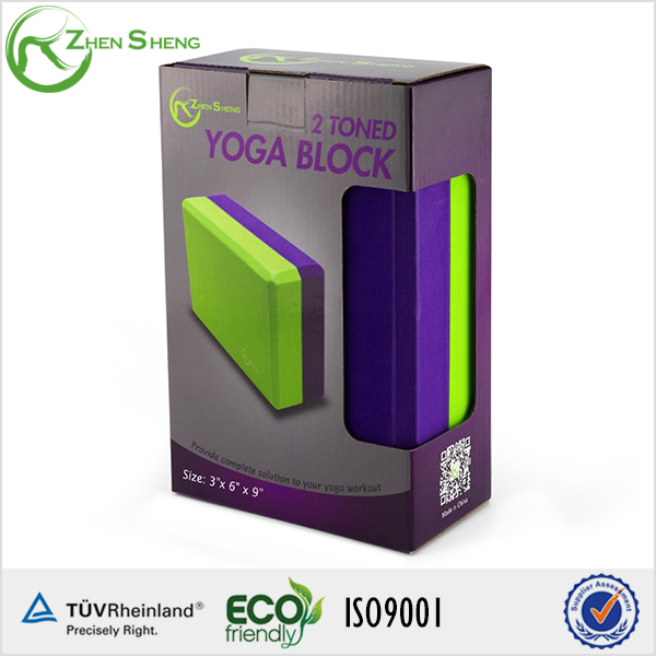 Zhensheng High Quality Logo Print Custom EVA Yoga Block