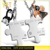 Factory price custom design stainless steel silver engraved jewelry couple tag pendant blanks