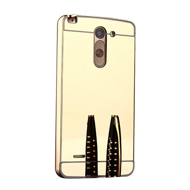 electroplating mirror aluminium bumper metal custom design clear phone case for lg g3 stylus