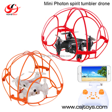 Toysky CSJ-Z4T Wifi FPV Mini Pocker Selfie Tumbler dron quadrocopter with cage protector safe for kids