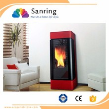 cast iron wood pellet stove boiler with air heating