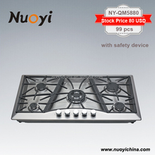 Kitchen appliances with 5 burner Nuoyi gas stove brands