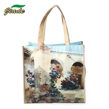Custom foldable cheap PP laminated gift tote non woven shopping bag with handles