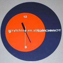 import acrylic wall clock/plexiglass wall clock display