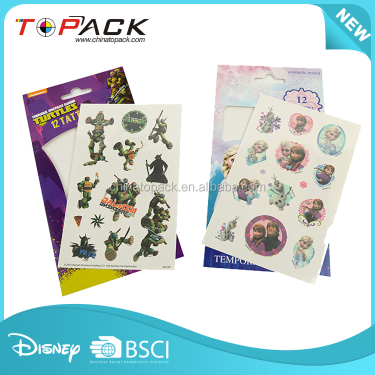 Hot sale OEM temporary body tattoo paper