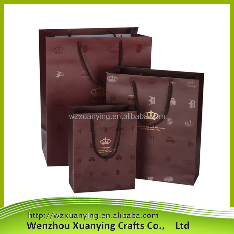 Custom Full color shopping package paper bag, paper shopping bag with Your Own Logo