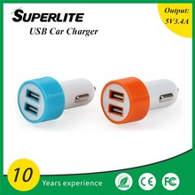 Promotional Custom 5v Car USB Charger 2 Port, USB portable charger