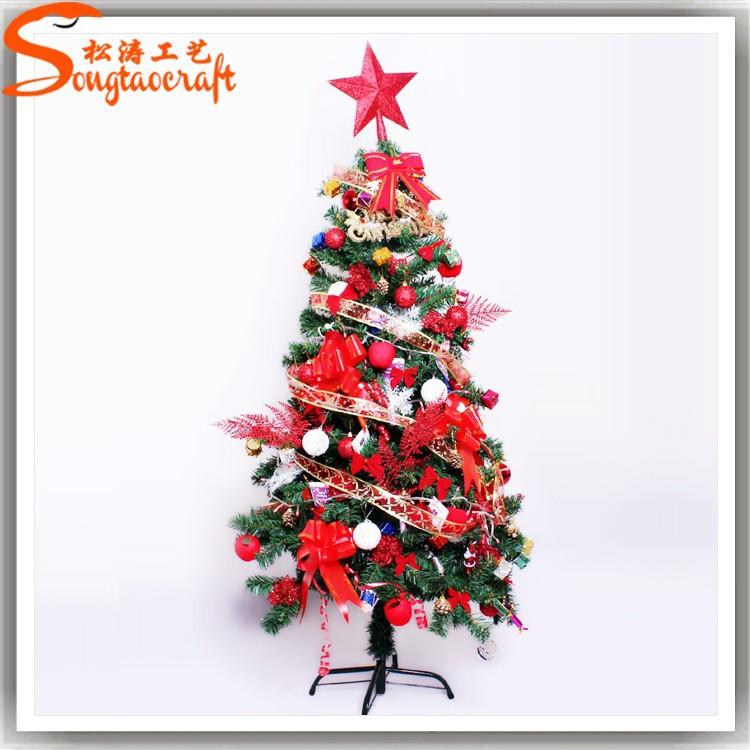 Kunststoffen mini led lwl pvc weihnachtsbaum zierde f r haus dekoration beleuchtet kiefernnadel - Weihnachtsbaum mini led ...
