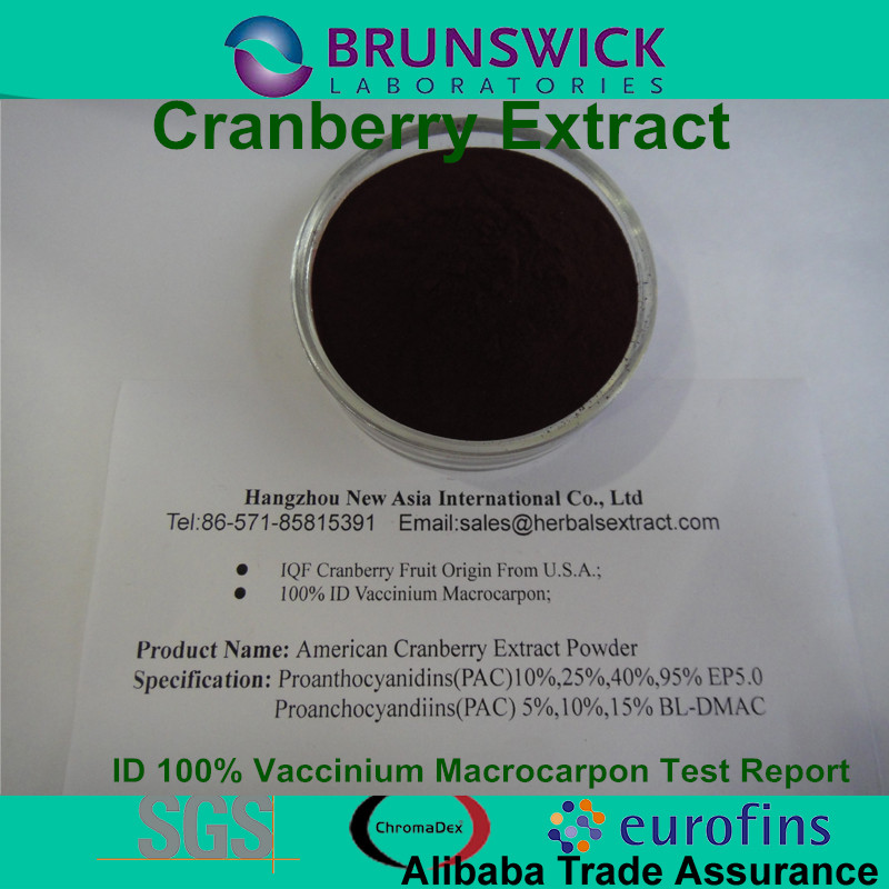Pure Cranberry Extract,100% ID Vaccinum Macrocarpon,Proanthocyanidins 5%,10%,15% BL-DMAC;25%,40%,95% UV EP Method