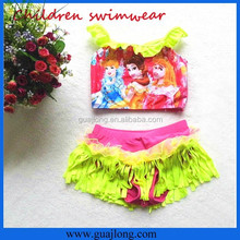 2016 Tassel frozen swimwear/best quality nylon frozen swimsuits drop shipping