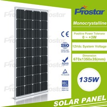 factory supply high qualified small panel monocrystalline 135w solar modules