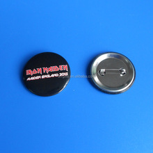 Custom printing logo metal button badge lapel pin with safety pin