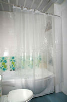 Hookless shower curtain&shower curtain for bathroom