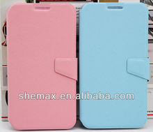 Durable Magnetic Closure Flip Stand PU Leather Phone Case for gionee e6