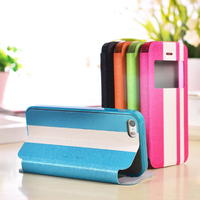 NX lagging bicolor leather case for iphone 5s