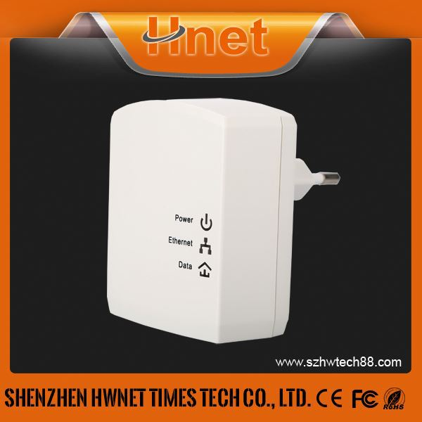 500Mbps wall mount Ethernet RJ45 PLC Powerline Adapter wired pass throught homeplug