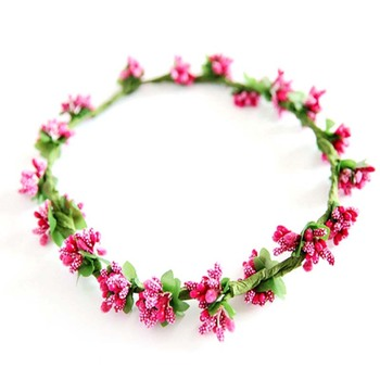 Wholesale handmade fashion artificial flower crown bridal floral headband for women