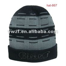 mens knitted winter wool sports caps
