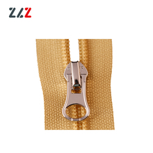 High end bag with plastic nylon zipper