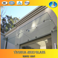 building materials laminated glass door canopy
