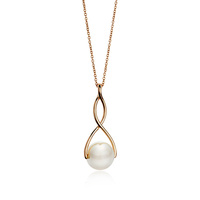 Fashion pendant necklace gold long chain pearl necklace of ladies fancy items