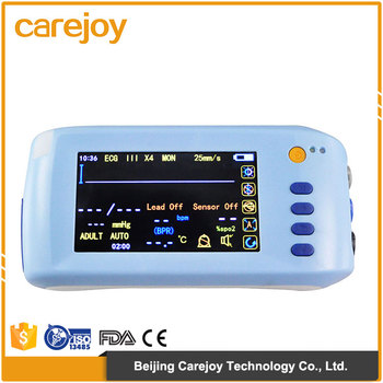 China Medical Clinic vital signs monitor 5.1 inch touch screen portable diagnostic ambulance multi-parameter patient monitor