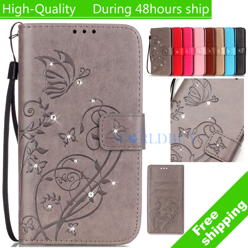 For Samsung Galaxy S5 mini G800 diamond butterfly printed pattern Leather Case Back Cover Flip Shell Stand Wallet Card Holder