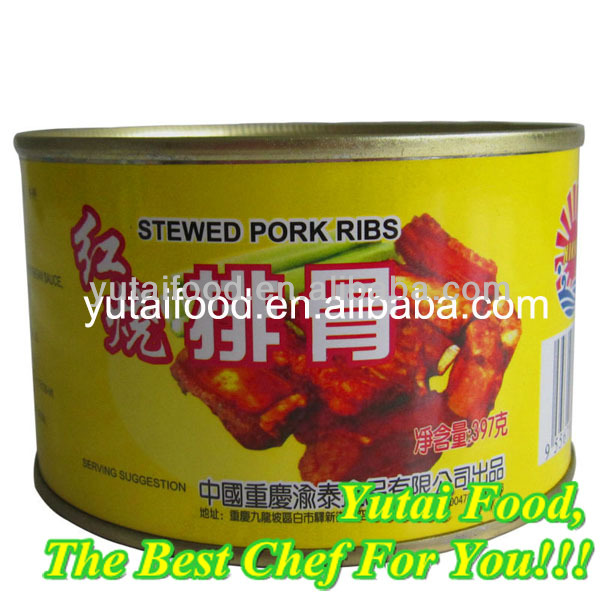 Different Types Canned Food Products Canned Stewed Pork Ribs