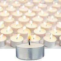 tealight candle in bulk Wholesale /white pressed tealight candle / AL holder pressed tealight candle