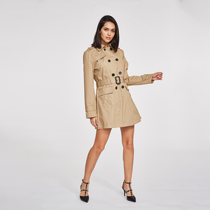 Wholesale custom made trench coat classic for woman