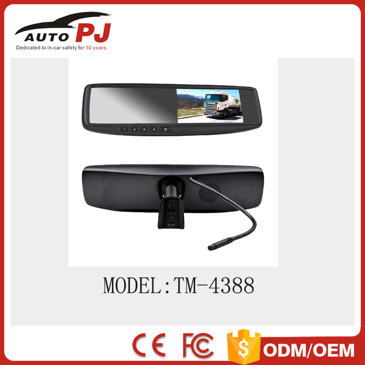 Rear Parking Sensor Mirror Camera Parking Sensor Mirror Monitor Cmos Car Camera With Initializing Logo