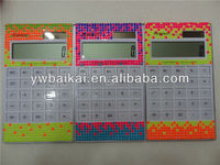 Latest crystal bling decorative solar calculator
